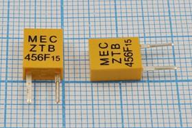 Керамические резонаторы специального применения с двумя выводами, пкер 456 \C07x4x09P2\\\\ ZTB456F15\2P-2 [19,0]