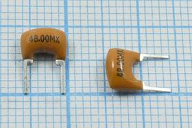 Керамические резонаторы 48МГц, с двумя выводами, пкер 48000 \C07x5x08P2\\5000\ \ZTA48,0MX\2P