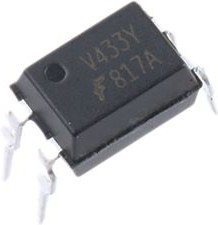 FOD817A300, Optocoupler DC-IN 1-CH Transistor DC-OUT 4-Pin PDIP Black Box