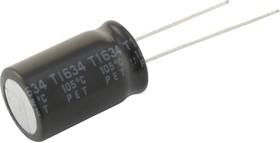 400BXF12M10X16, Электролитический конденсатор, миниатюрный, 12 мкФ, 400 В, Серия BXF, ± 20%, Радиальные Выводы