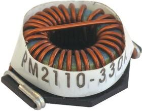 Фото 1/3 PM2110-101K-RC, Тороидальный индуктор, сильноточный, Серия PM2110, 100 мкГн, 5.4 А, 0.032 Ом, ± 10%