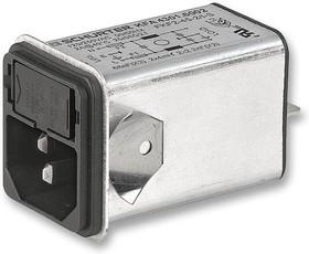 4301.6012, Filtered IEC Power Entry Module, IEC C14, General Purpose, 2 А, 250 В AC, 1-Pole Fuse Holder