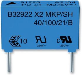 B32923C3155M000, Конденсатор 1.5µF ±20% 305В AC, X2