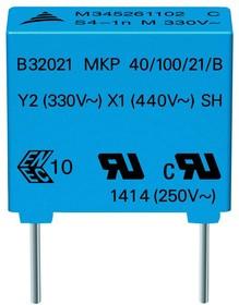 B32021A3472M189, Конденсатор 0.0047µF ±20% 300V AC, Y2