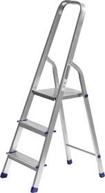 38801-3, Лестница-стремянка СИБИН алюминиевая, 3 ступени, 60 см