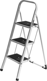 Фото 1/2 38807-03, Лестница-стремянка СИБИН стальная c широкими ступенями, 3 ступени