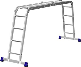 Фото 1/6 38852, Лестница-трансформер СИБИН алюминиевая, 4х4
