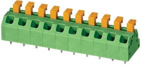 SPTAF 1/10-5,0-LL, Клеммная колодка типа провод к плате, 5 мм, 10 вывод(-ов), 24 AWG, 18 AWG, 1 мм², Вставной