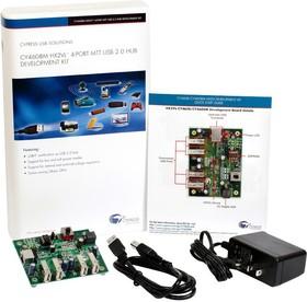 CY4608M, Комплект разработчика, контроллер концентратора на 4 порта CY4608M HX2VL™ USB 2.0 Multi TT, USB