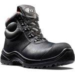 V6863.01/12, Rhino Black Composite Toe Safety Shoes, UK 12