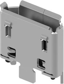 Фото 1/2 USB3160-30-0070-1-C, Составной USB разъем, Ultra Low Profile, 2.8A, Micro USB Типа B, USB 2.0, 5 вывод(-ов)