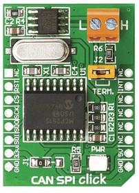 Фото 1/2 MIKROE-986, Дополнительная плата, Click, подключение, CAN SPI, 3.3В, MikroBUS