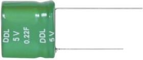 DDL474S05F1ERRDAPZ, Суперконденсатор, 0.47 Ф, 5.5 В, Радиальные Выводы, DDL Series, +50%, -20%, 11.8 мм