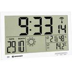 74647, Метеостанция (настенные часы) Bresser MyTime Jumbo LCD, белая