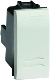 BRAVA Выключатель типа кнопка белый 1 модуль