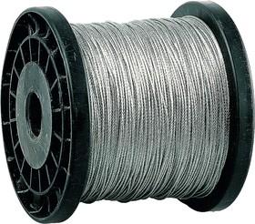 4-304110-01, Трос стальной, оцинкованный, DIN 3055, d=1 мм, L=200 м, ЗУБР Профессионал