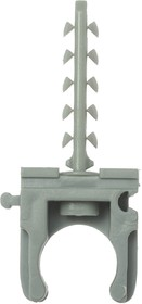 """4-44956-16, Скоба-держатель ЗУБР """"МАСТЕР"""" для металлопластиковых труб, в комплекте с дюбелем, 16 мм, 8 шт"""