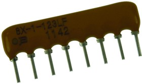 4608X-AP2-472LF, RES N/W, ISOLATED, 4K7, 2%, 100V, SIP