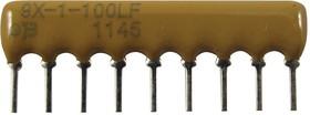 4609X-101-124LF, RES N/W, BUSSED, 120K, 2%, 100V, SIP