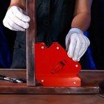 12-4836, Магнитный угольник-держатель для сварки, отключаемый на 3 угла, усилие 23 кг