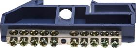 49807-10, Шина СВЕТОЗАР нулевая на DIN-изоляторе, макс. ток 100А, 5,2мм, 10 полюсов
