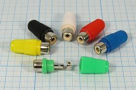 Гнездо RCA на кабель укороченное, синее, № 1303B гн RCA \каб\пл L29\син\\[тюльпан]