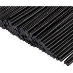 09-1104-1, Стержни клеевые ø 7 мм, 200 мм, черные, 1 кг (0.5 кг + 0.5 кг) (пакет)
