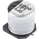 Фото 3/3 EEEFT0J222AP, электролитический конденсатор SMD 2200мкФ, 6.3В 10x10.2