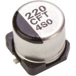Фото 2/2 EEEFT1C221AP, SMD электролитический конденсатор, Radial Can - SMD, 220 мкФ, 16 В, 0.26 Ом, Серия FT
