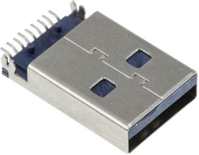 Фото 1/2 692112030100, Разъем USB, USB Типа A, USB 3.0, Штекер, 9 вывод(-ов), Поверхностный Монтаж, Прямой Угол