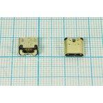 Фото 2/2 Разъем micro USB-B, Гнездо угловое реверсивное (reverse), 5 выводов, № 12763 гн microUSB REV\B\5C4HP\плат\ угл\\microUSBB5SDLREV