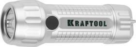 56760, Фонарь KRAFTOOL ручной светодиодный, магнит, 3AAA, 3Вт