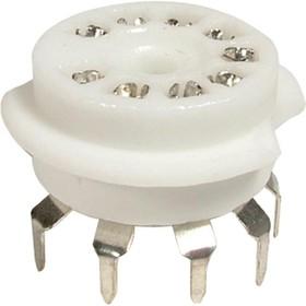 P-ST9-217, 9 PIN CERAMIC TUBE SOCKET