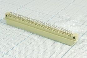 Фото 1/2 Прямоугольный соединитель штекер DIN41612, шаг P2,54мм, 64P[A+B],[2x32, A+B=2x32=64P, угловой, D22-64MR1DL