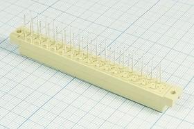 Фото 1/2 Розетка DIN41612 на 96 гнёзд с неполным заполнением A+C=2x16=32HP, шаг 5.08мм; № 10096 гн ПрС DIN41612\P5,08\ 96HP[A+C]\плат\ \D32-32F2WL