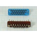 Фото 2/4 Прямоугольный соединитель штекер, шаг P6,4мм, 22P, 22 контакта, на панель/на кабель, РП10-22