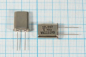 Фото 1/4 кварцевый резонатор 12.108МГц в корпусе HC49U, расширенный интервал -40~+70C, 12108 \HC49U\S\ 15\ 30/-40~70C\РПК01МД-6ВС\1Г
