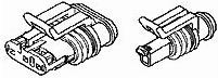 1745022-1, Корпус Автомобильного Разъема, SUPERSEAL 1.5mm Series, Штекер, 2 вывод(-ов)