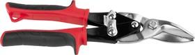 JAS002, Ножницы JCB по металлу рычажные, хромованадиевая сталь, двухкомпонентная ручка, левые, 250мм