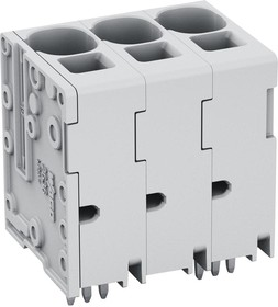 Фото 1/2 2636-3103/020-000, PCB Terminal Block, 16 mm2, Pin spacing 10 mm, 3-pole, Push-in Cage Clamp