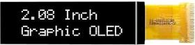 MCOT256064DY-WM, Графический OLED дисплей, 256 x 64 Pixels, Белый на Черном, 3В, I2C, Параллельный, SPI