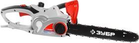 ЗЦП-2001-02, Пила цепная (электропила), ЗУБР ЗЦП-2001-02, поперечный двиг-ль, защита руки (тормоз цепи), масляный