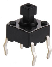 SKHHCWA010, Switch Tactile N.O. SPST Square Button PC Pins 0.05A 12VDC 0.98N Thru-Hole Automotive Bulk