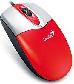 31010234101, Мышь DX-165, USB, красная/белый (red, optical 1000dpi, подходит под обе руки)