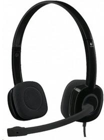 981-000589, Гарнитура Stereo Headset H151, черная, длина кабеля 1,8 м, разъем 3,5 мм, микрофон с функц. шумопода