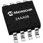 24AA08-I/SN, EEPROM, 8 Кбит, 4 BLK (256 x 8бит), Serial I2C (2-Wire), 400 кГц ...