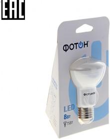 Лампа светодиодная ФОТОН LED R63 8 W E27 3000K (22064)