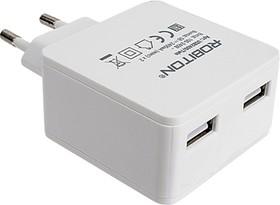 Фото 1/4 USB2400/TWIN, Блок питания с двумя USB разъёмами, 5В,2.4А (адаптер)