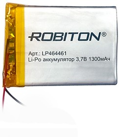 Фото 1/2 LP464461, Аккумулятор литий-полимерный (Li-Pol) 1300мАч 3.7В, с защитой