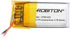 Фото 1/2 LP401225, Аккумулятор литий-полимерный (Li-Pol) 90мАч 3.7В, с защитой